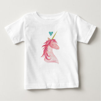 Pink Unicorn Magic with Heart Baby T-Shirt