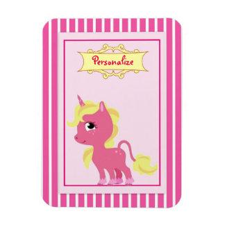 """Pink Unicorn"" Magnet"