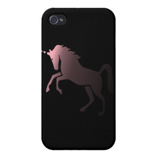 Pink Unicorn on Black Background Speck iPhone 4 Ca iPhone 4 Cover