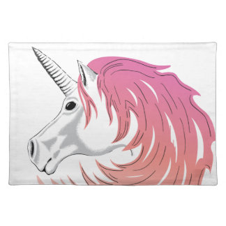 Pink Unicorn Placemat
