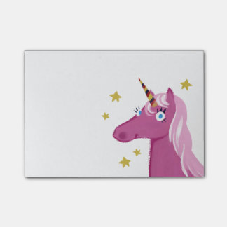 Pink Unicorn Post-it notes