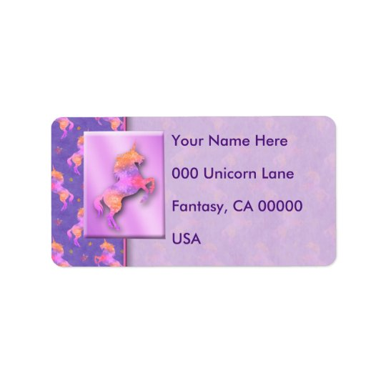 Pink Unicorns Label