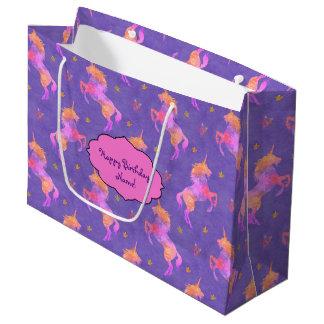 Pink Unicorns Large Gift Bag