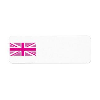 Pink Union Jack Avery Label
