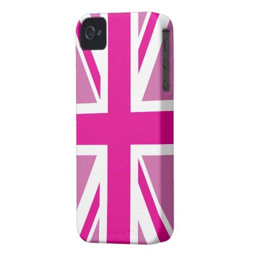 Pink Union Jack British Flag Case iPhone 4 Cover