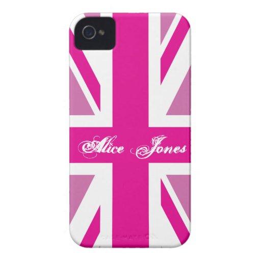 Pink Union Jack Case-Mate Case Blackberry Case