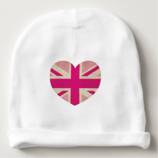 Pink Union Jack Flag Beanie Baby Hat Baby Beanie