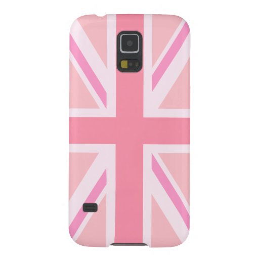 Pink Union Jack/Flag Case For Galaxy S5