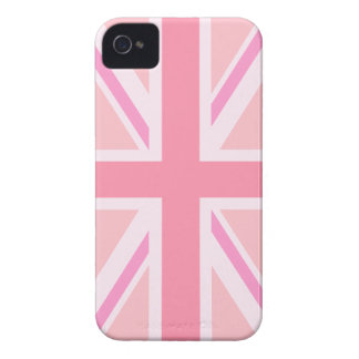 Pink Union Jack Flag iPhone 4 Case