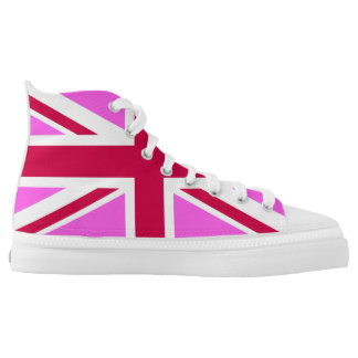 pink union jack flag high tops
