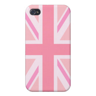 Pink Union Jack/Flag iPhone 4/4S Case