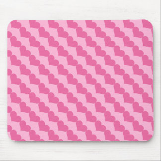 Pink Valentine Hearts Pattern Mouse Pad