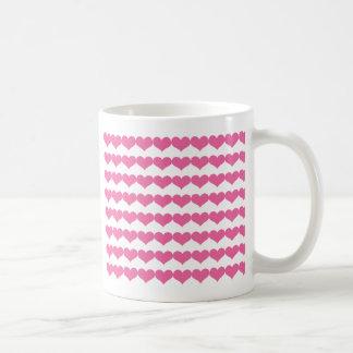 Pink Valentine Hearts Pattern Mug