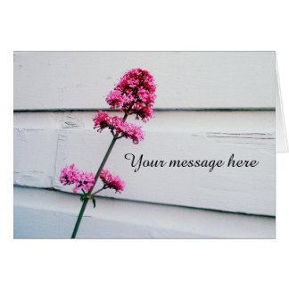 Pink Valerian Flower Blank Notecard   Customize