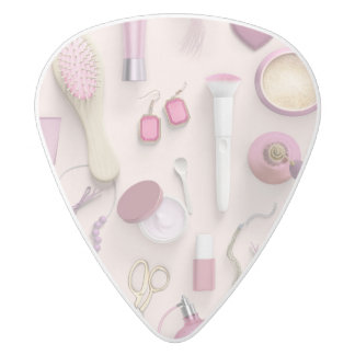 Pink Vanity Table White Delrin Guitar Pick