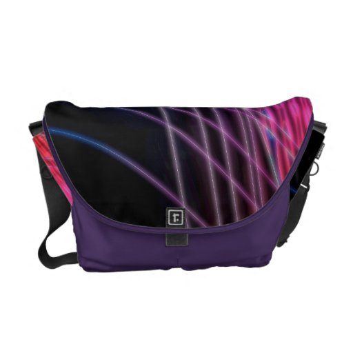 Pink Vector Wave Courier Bags
