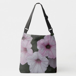 Pink Vein Shockwave Petunias Crossbody Bag
