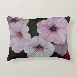 Pink Vein Shockwave Petunias Decorative Cushion