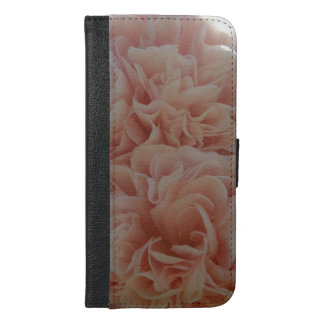 Pink velvet flowers Mallow iPhone 6/6s Plus Wallet Case