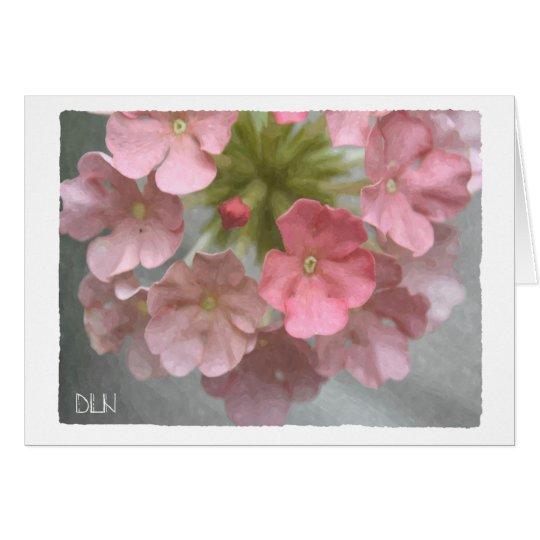 Pink Verbena/Floral  Art Card