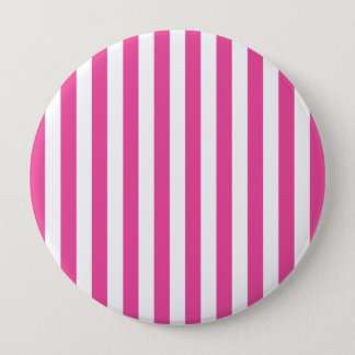 Pink Vertical Stripes 10 Cm Round Badge