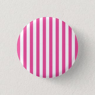 Pink Vertical Stripes 3 Cm Round Badge