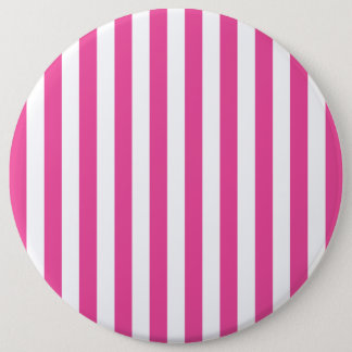 Pink Vertical Stripes 6 Cm Round Badge