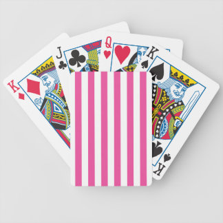 Pink Vertical Stripes Bicycle Playing Cards