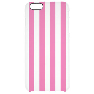 Pink Vertical Stripes Clear iPhone 6 Plus Case