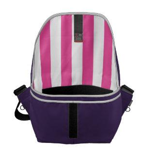 Pink Vertical Stripes Courier Bag