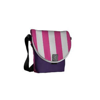 Pink Vertical Stripes Courier Bags
