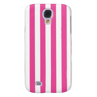 Pink Vertical Stripes Galaxy S4 Cases
