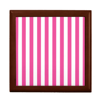 Pink Vertical Stripes Gift Box
