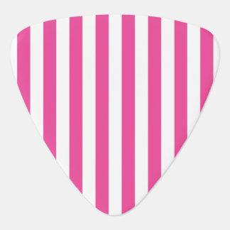 Pink Vertical Stripes Guitar Pick