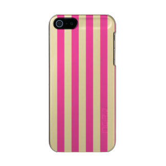 Pink Vertical Stripes Incipio Feather® Shine iPhone 5 Case