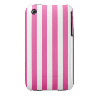 Pink Vertical Stripes iPhone 3 Covers