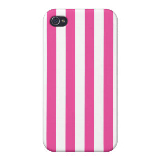Pink Vertical Stripes iPhone 4 Cases