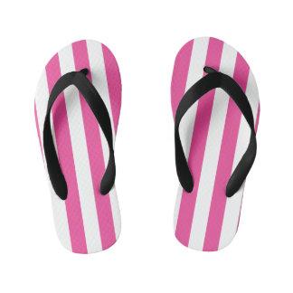 Pink Vertical Stripes Kid's Thongs