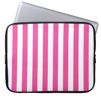 Pink Vertical Stripes Laptop Sleeve