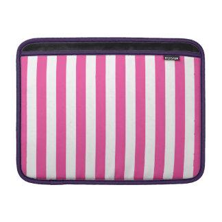 Pink Vertical Stripes MacBook Air Sleeves
