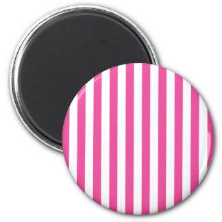 Pink Vertical Stripes Magnet