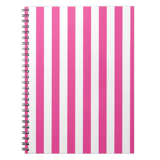 Pink Vertical Stripes Notebook