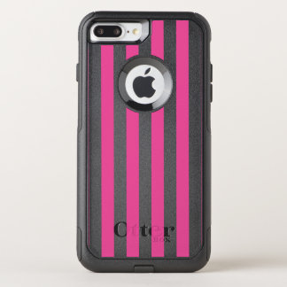 Pink Vertical Stripes OtterBox Commuter iPhone 7 Plus Case