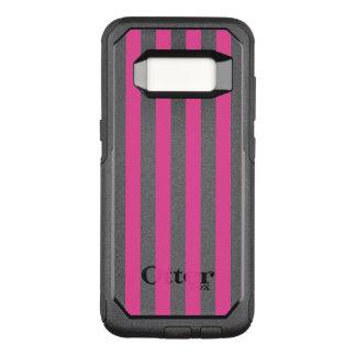 Pink Vertical Stripes OtterBox Commuter Samsung Galaxy S8 Case