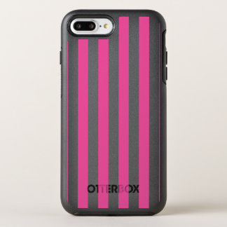 Pink Vertical Stripes OtterBox Symmetry iPhone 7 Plus Case