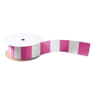 Pink Vertical Stripes Satin Ribbon