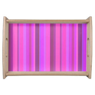 Pink vertical stripes serving tray