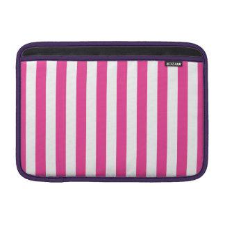 Pink Vertical Stripes Sleeve For MacBook Air