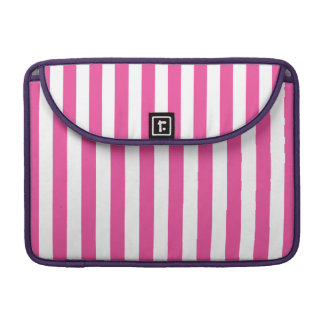 Pink Vertical Stripes Sleeve For MacBook Pro