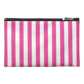 Pink Vertical Stripes Travel Accessory Bag